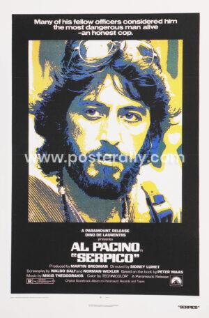 Al Pacino Serpico  Buy Vintage Hollywood Posters   Al Pacino Posters   Buy movie posters   Old Movie Posters   Vintage Movie Posters for sale online