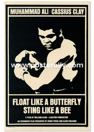 Muhammad Ali Float Like a Butterfly Sting Like a Bee Poster   Buy Hollywood Posters online   Muhammad Ali Poster   Buy movie posters online