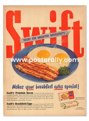 Swift's Premium Bacon & Brookfield Eggs (1950's)