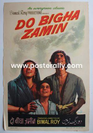 Buy Do Bigha Zamin 1953 Original Bollywood Movie Poster.Starring Balraj Sahni, Nirupa Roy and Meena Kumari.Directed by Bimal Roy.
